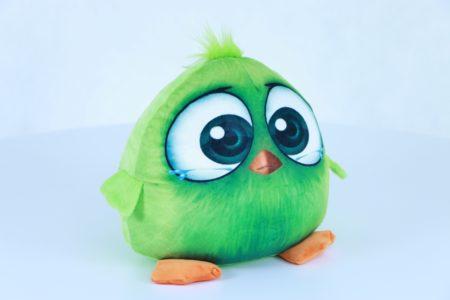 Птичка зелёная 27 см