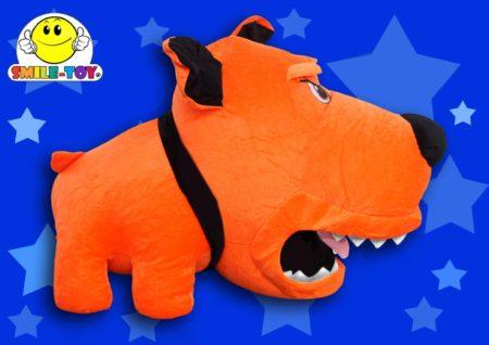 Злая собака оранжевая 45 см